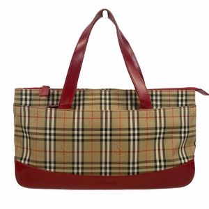 Burberry Tote bag Red Canvas